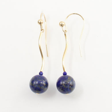 1300241-14K-Yellow-Gold-Blue-Lapis-Lazuli-Dangling-Earrings