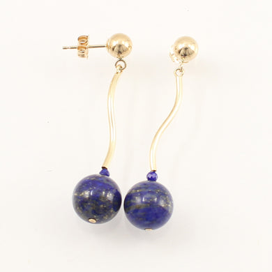 1300291-Blue-Lapis-Lazuli-Dangling-14K-Yellow-Gold-Earrings