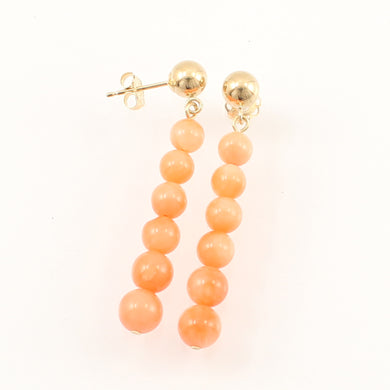 1300644-Pink-Coral-Beads-14K-Yellow-Gold-Leverback-Earrings