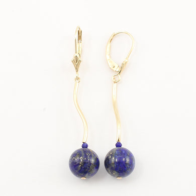 1301121-14K-Yellow-Gold-Lapis-Dangling-Lever-Back-Earrings