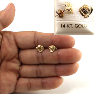 14kt Yellow Gold Mini Fish Stud Earrings