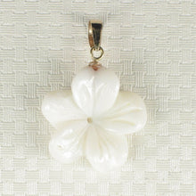 Load image into Gallery viewer, 14K Gold Mother of Pearl Plumeria Pendant 2000710