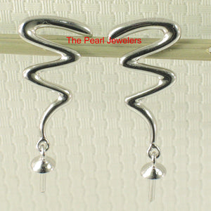 14k-White-Gold-Lightning-Design-For-Pearl-Beads-Dangle-Earrings-DIY