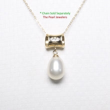 Load image into Gallery viewer, 14k Yellow Gold Tunnel Design Bale Diamond & White Cultured Pearl Pendants