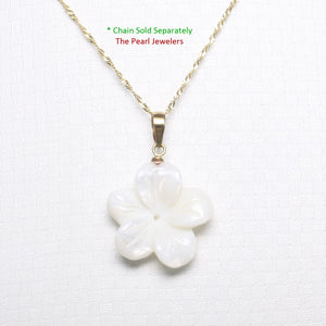 2000710-14k-Hand-Carved-Mother-of-Pearl-Hawaiian-Plumeria-Pendant-Necklace