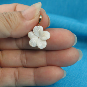 2000710-14k-Gold-Bale-Hand-Carved-Mother-of-Pearl-Hawaiian-Plumeria-Pendant