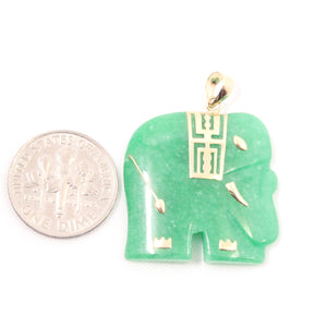 2100033-14k-Solid-Yellow-Gold-Hand-Carved-Elephant-Green-Jade-Pendant-Necklace