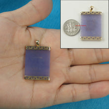 Load image into Gallery viewer, 2100042-Lavender-Jade-Board-14k-Yellow-Gold-Greek-Key-Design-Pendant