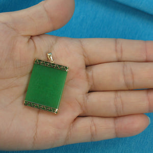 2100043-Greek-Key-14k-Yellow-Gold-Green-Jade-Board-Pendant-Necklace