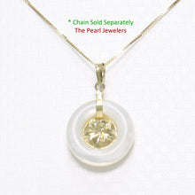 Load image into Gallery viewer, 2100060-14k-Gold-Hawaiian-Plumeria-White-Mother-of-Pearl-Pendant-Necklace