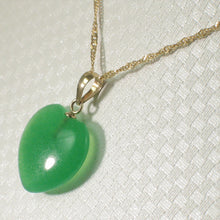 Load image into Gallery viewer, 2100093-14k-Gold-Hand-Crafted-Heart-Love-Green-Jade-Pendant-Necklace