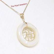 Load image into Gallery viewer, 2100240-14k-Gold-Good-Fortune-White-Mother-of-Pearl-Pendant-Necklace