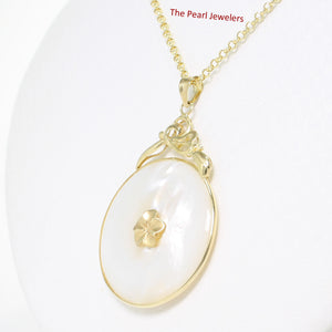 2100320-14k-Gold-Hawaiian-Plumeria-Flower-Disc-Mother-of-Pearl-Pendant-Necklace