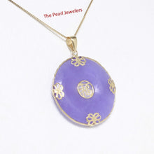 Load image into Gallery viewer, 2100402-14k-Gold-Joy-Butterflies-Disc-Lavender-Jade-Pendant-Necklace