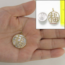 Load image into Gallery viewer, 2100730-14k-Gold-Good-Fortunes-Disc-Mother-of-Pearl-Pendant-Necklace