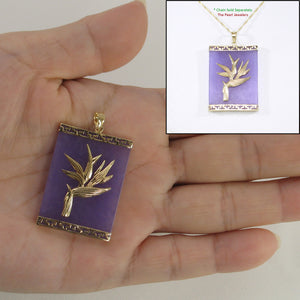 2100742-14k-Gold-Hawaiian-Bird-of-Paradise-Lavender-Jade-Pendant-Necklace
