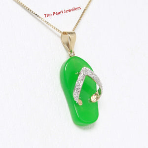 2100873-Slipper-Green-Jade-14k-Gold-Diamonds-Pendant-Necklace