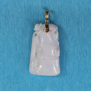 Double Sided Exquisite Carving Grade A Jadeite Jade Pendant