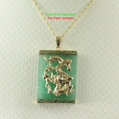 2100983-14k-Gold-Hand-Crafted-Dragon-Green-Jade-Pendant-Necklace