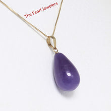 Load image into Gallery viewer, 2101472-Raindrop-Lavender-Jade-14k-Gold-Pendant-Necklace