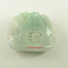 Load image into Gallery viewer, 2101536-Monkeys-Playing-Longevity-Peaches-Good-Fortune-Carving-Honeydew-Jade