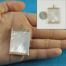 Load image into Gallery viewer, 2121780-14k-Gold-25mm x 35mm-White-Mother-of-Pearl-Board-Pendant