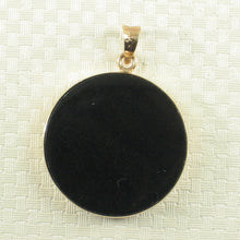 Load image into Gallery viewer, 2130491-14k-Solid-Gold-Black-Onyx-Mother-of-Pearl-Pendant-Necklace