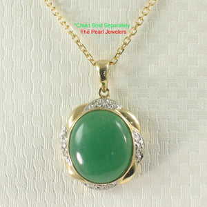 2187703-Elegant-Beautiful-14k-Gold-Oval-Green-Diamond-Jade-Pendant-Necklace