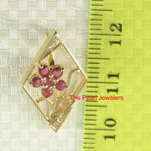 Load image into Gallery viewer, 14k Yellow Solid Gold Unique Design Genuine Red Rubies & Diamonds Pendant