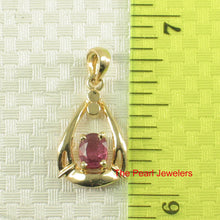Load image into Gallery viewer, Genuine & Natural Red Ruby 14k Yellow Solid Gold Unique Design Pendant
