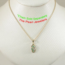 Load image into Gallery viewer, Unique Design Natural Green Emerald & Diamonds Pendant 14k Yellow Solid Gold