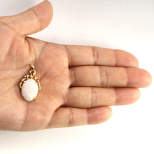 Load image into Gallery viewer, 14k Yellow Solid Gold Oval Shaped Genuine Australia Opal Pendant