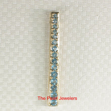 Load image into Gallery viewer, Fifteen Stone Graduated Blue Topaz Pendant Set 14k Solid Yellow Gold