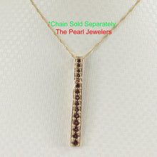Load image into Gallery viewer, Fifteen stone Graduated Natural Brown Garnet Pendant 14k Solid Yellow Gold