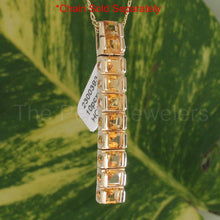 Load image into Gallery viewer, Genuine & Natural Yellow Citrine Pendant Made with 14k Solid Yellow Gold