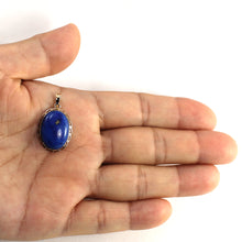 Load image into Gallery viewer, 14k Solid Yellow Gold & Cabochon Oval Natural Blue Lapis Lazuli Pendant
