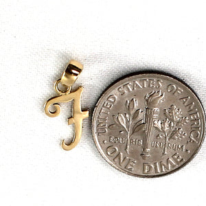 F Initial Monogram Name Letter Pendant Charm 14k Yellow Gold