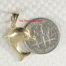 Load image into Gallery viewer, Beautiful Design Dolphin Handcrafted of 14k Solid Yellow Gold Pendant Charm