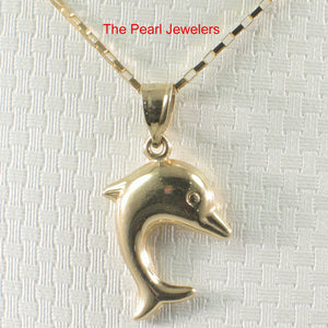 Beautiful Design Dolphin Handcrafted of 14k Solid Yellow Gold Pendant Charm