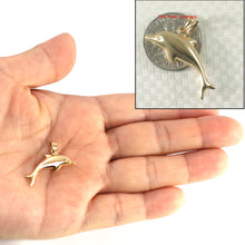 Load image into Gallery viewer, Beautiful Design Dolphin Handcrafted 14k Solid Yellow Gold Pendant Charm