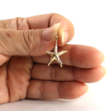 Load image into Gallery viewer, Beautiful & Love 14k Gold Star Fish Pendant