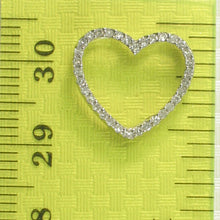 Load image into Gallery viewer, 14k White Solid Gold Heart Design Round Diamonds Pendant