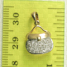 Load image into Gallery viewer, 14k Solid Yellow Gold 28 Sparkling Genuine Diamond Purse Pendant
