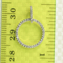 Load image into Gallery viewer, Beautiful 14k Solid White Gold Circle Design 46 Round Diamonds Pendant