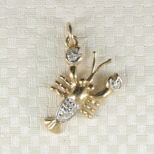 Load image into Gallery viewer, 14k Solid Yellow Gold Lobster 6 Sparkling Genuine Diamond Pendant