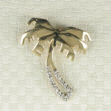 Load image into Gallery viewer, 14k Solid Yellow Gold Diamond Hawaiian Tradition Design Coconut Tree Pendant