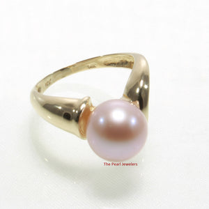 3000064-14k-Yellow-Gold-AAA-Love-Lavender-Cultured-Pearl-Solitaire-Ring