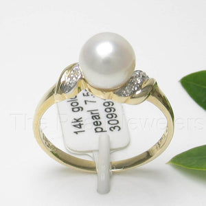 3099910-14k-Gold-White-Genuine-AAA-Cultured-Pearl-Diamonds-Ring