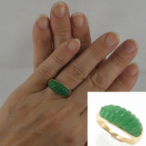 3100053-14k-Yellow-Gold-Beautiful-Carved-Elegant-Twisted-Dome-Green-Jade-Ring