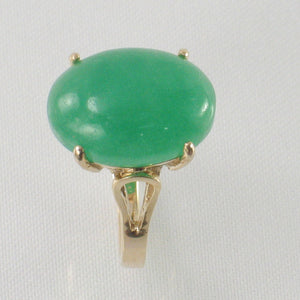 3101083-14kt-YG-12x16mm-Cabochon-Cut-Oval-Green-Jade-Solitaire-Ring
